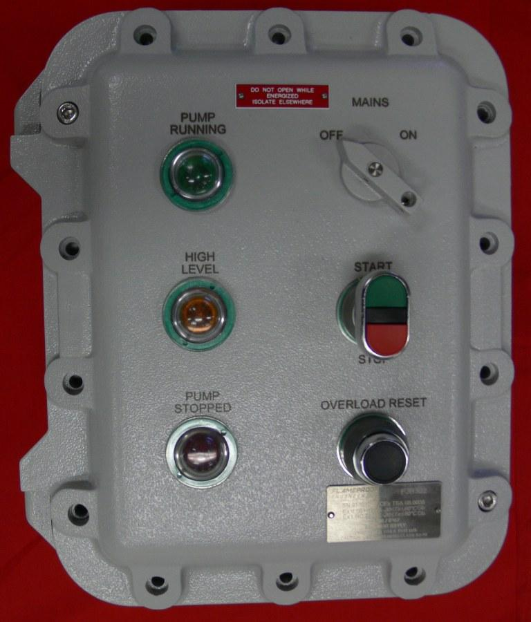 Flameproof engineering electrical control equipment for for Hazardous location motor starter